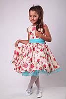 Нарядное  платье в ретро стиле для девочки (116-128р)