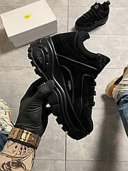 Женские кроссовки Buffalo Londo Black Suede (черные)