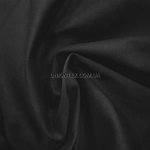 Ткань парка cotton стрейч черная