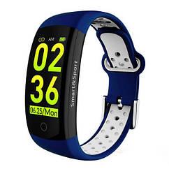 Фитнес-браслет Smart Band UMax Q6S 3D дисплей Тонометр Сине-белый yErI40043, КОД: 381229