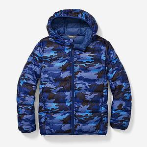Ультра легкий пуховик Eddie Bauer kid's CirrusLite Down Hooded Jacket Сутінки Navy 4-6 років