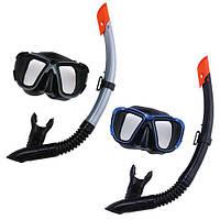 Набір для плавання BW 24021 маска, трубка, регул. ремінець, 2 кольори, сітка.