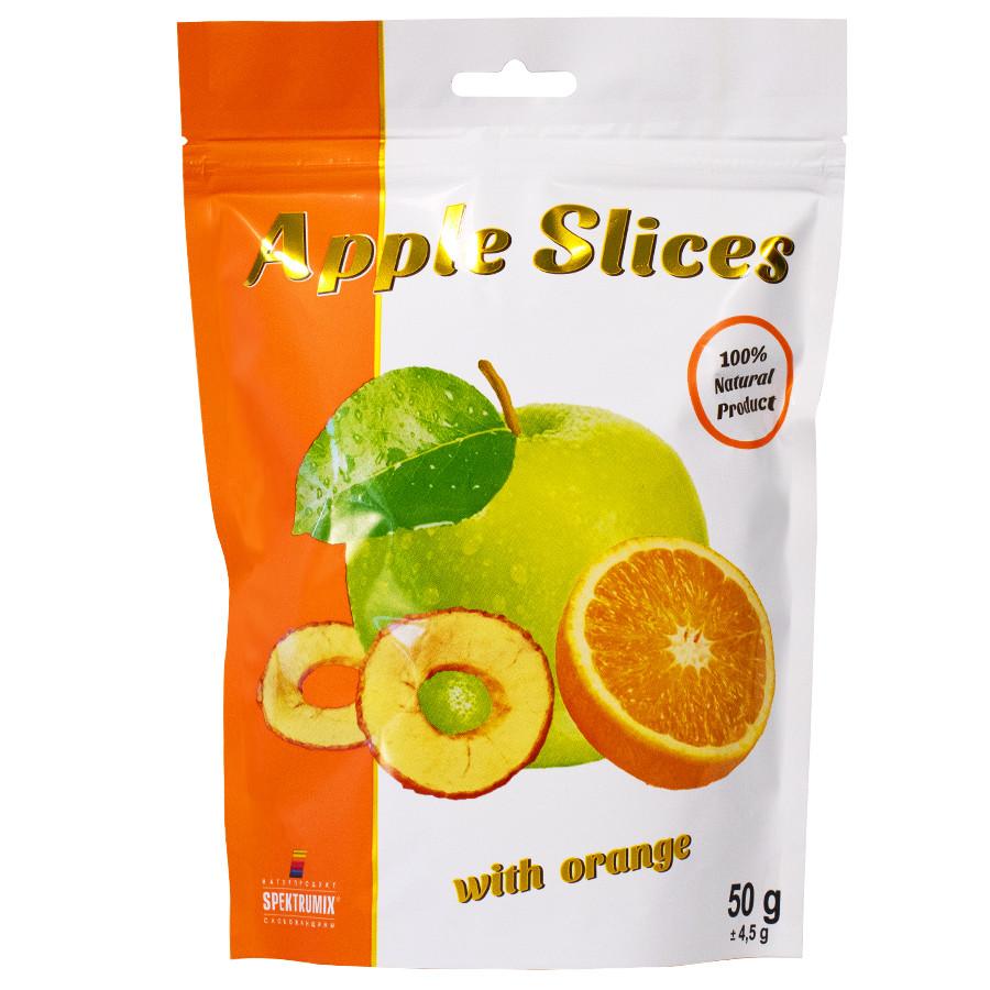 Cлайсы яблочные сушеные с апельсином Apple Slices, 50 г