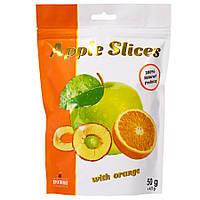 Слайсы яблучні сушені з апельсином, 50 г
