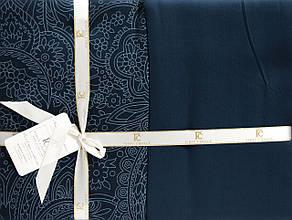 Комплект постельного белья First Choice Сатин Люкс Neva Petrol, фото 3