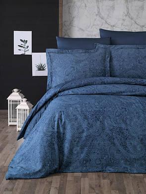 Комплект постельного белья First Choice Сатин Люкс Neva Petrol, фото 2