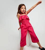 Льняний комбінезон дитячий, кольори в асортименті від яскравих до пастельних кольорів, фото 1