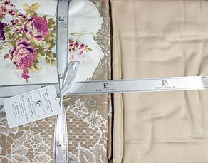Комплект постельного белья First Choice Сатин Люкс Poema Vizon, фото 2