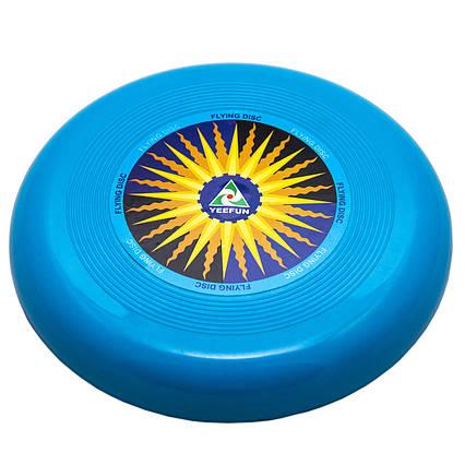 Фрисби, летающая тарелка, пластик, 15 см Голубой (DFD09004-2)