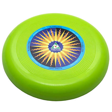 Фрисби, летающая тарелка, пластик, 15 см Зеленый (DFD09004-3)