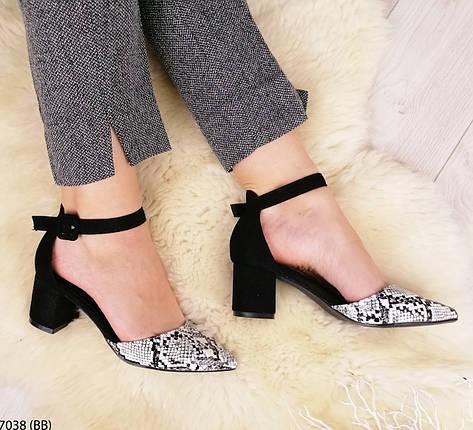 Красивые  женские туфли на среднем каблуке, фото 2