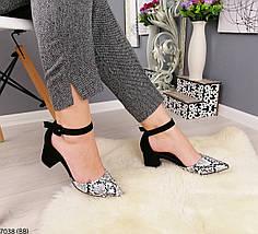 Красивые  женские туфли на среднем каблуке, фото 3