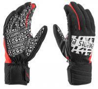 Горнолыжные перчатки Leki EleMents Helium S black-white-red (MD)