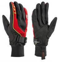 Горнолыжные перчатки Leki Shark Cruiser black-red-yellow (MD)