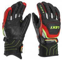 Горнолыжные перчатки Leki Worldcup Race Flex S Junior black-red-white-yel (MD 15)