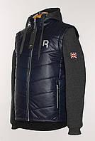 """Теплая,разборная куртка-жилет """"Reebok""""темно-синего цвета.Новая коллекция!"""