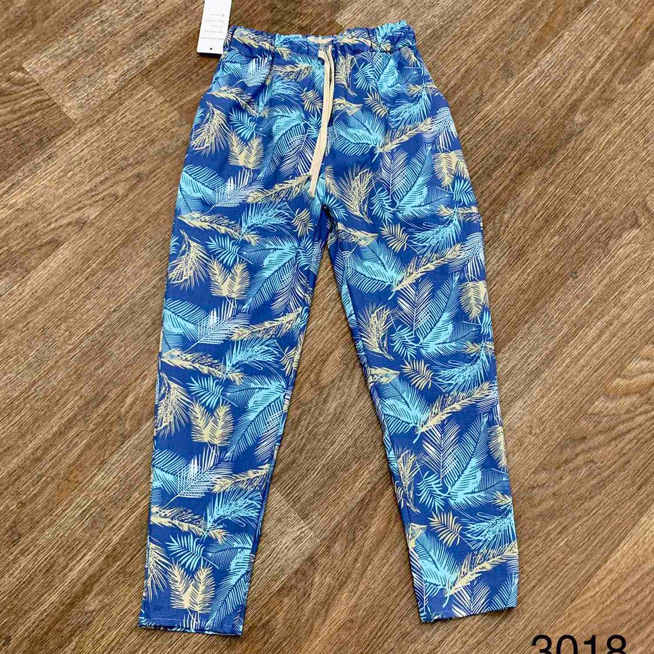 Яркие женские брюки с принтом 42-44