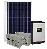 Автономная 1кВт солнечная электростанция с резервом аккумуляторов, автономный инвертор MUST