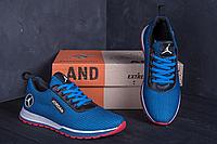 Кроссовки летние мужские сетка Jordan blue (реплика)