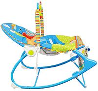 Крісло-гойдалка ibaby з режимом вібрації і дугою з іграшками, фото 5