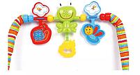 Крісло-гойдалка ibaby з режимом вібрації і дугою з іграшками, фото 6