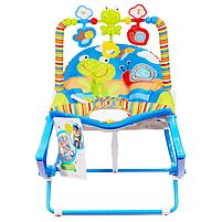 Крісло-гойдалка ibaby з режимом вібрації і дугою з іграшками, фото 7