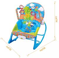 Крісло-гойдалка ibaby з режимом вібрації і дугою з іграшками, фото 8