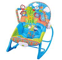Крісло-гойдалка ibaby з режимом вібрації і дугою з іграшками, фото 3