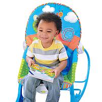 Крісло-гойдалка ibaby з режимом вібрації і дугою з іграшками, фото 4
