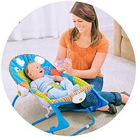 Крісло-гойдалка ibaby з режимом вібрації і дугою з іграшками, фото 9