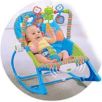 Крісло-гойдалка ibaby з режимом вібрації і дугою з іграшками, фото 10