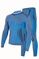 Комплект мужского термобелья Haster Alpaca Wool L XL Синий, КОД: 124822