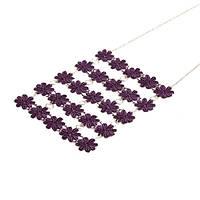 Ожерелье кружевное темно-фиолетовое на цепочке