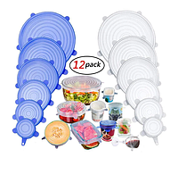 Силиконовые крышки пленки пищевые многоразовые Super stretch silicone lids (6шт)
