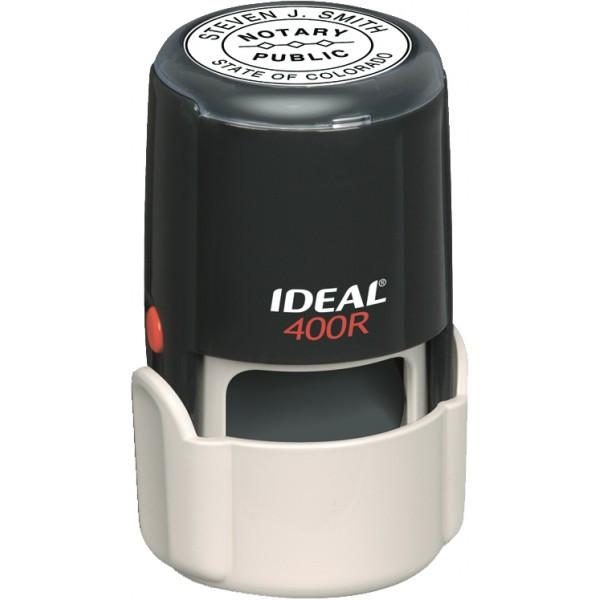 Оснастка для штампа пластиковая круглая Trodat Ideal 400R Ø 40 мм с колпачком чёрная
