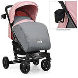 Коляска дитяча ME 1011L ZETA Pale Pink, фото 3