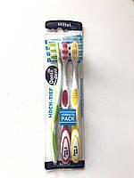 Зубная щетка Dontodent Interdental (средней жесткости ) 3 шт в упаковке, фото 1