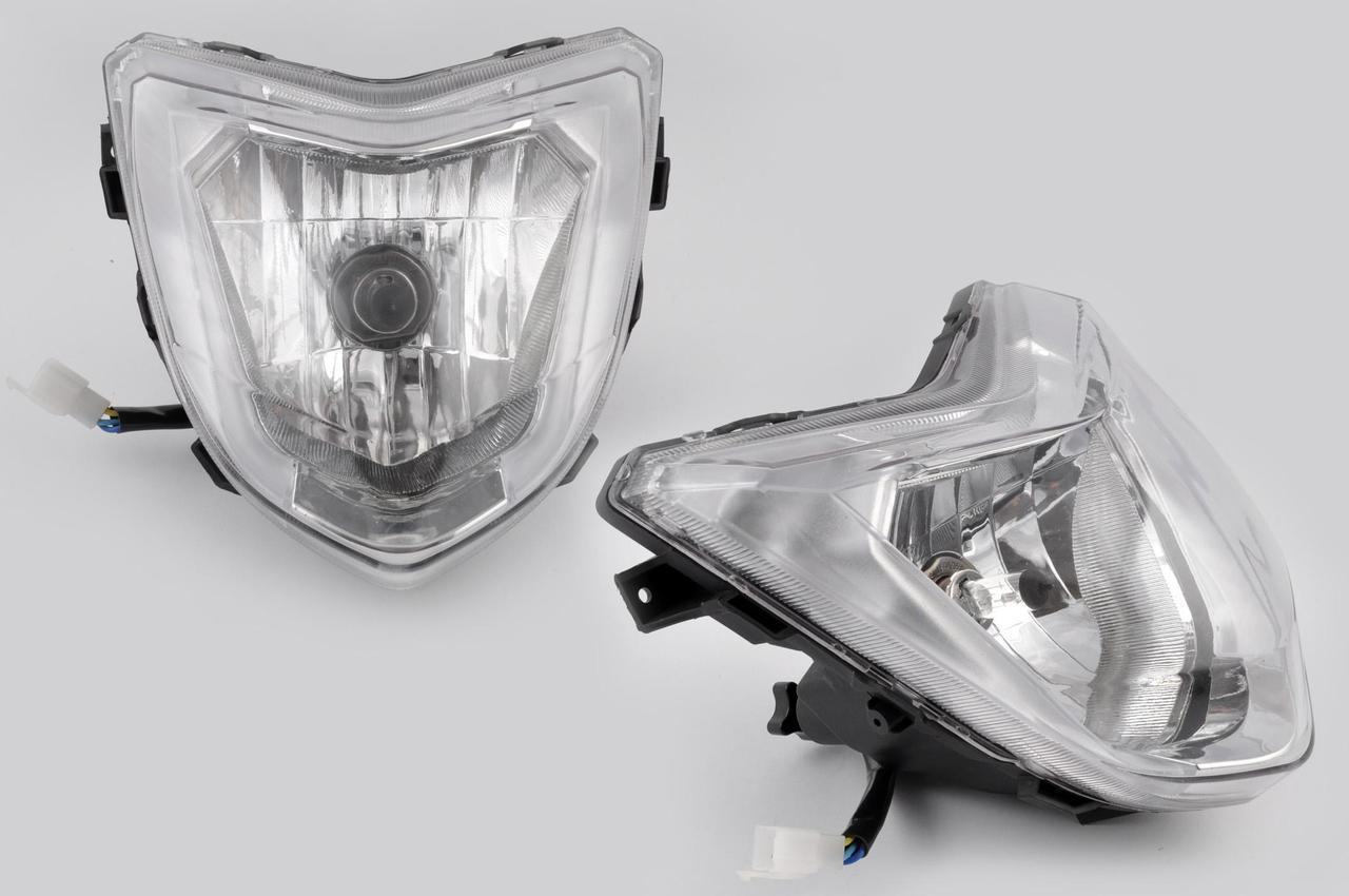 Фара універсальна (+лампи габаритна, галогенна) Ф1