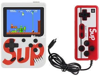 Ретро игровая приставка (Игровая консоль) Game Box sup 400 игр в 1 + джойстик White