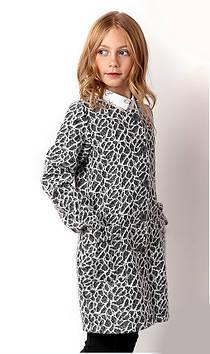 Пальто для девочки трикотажное