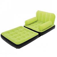 Надувное кресло кровать трансформер Bestway 67277 Зеленый gr007320, КОД: 915902