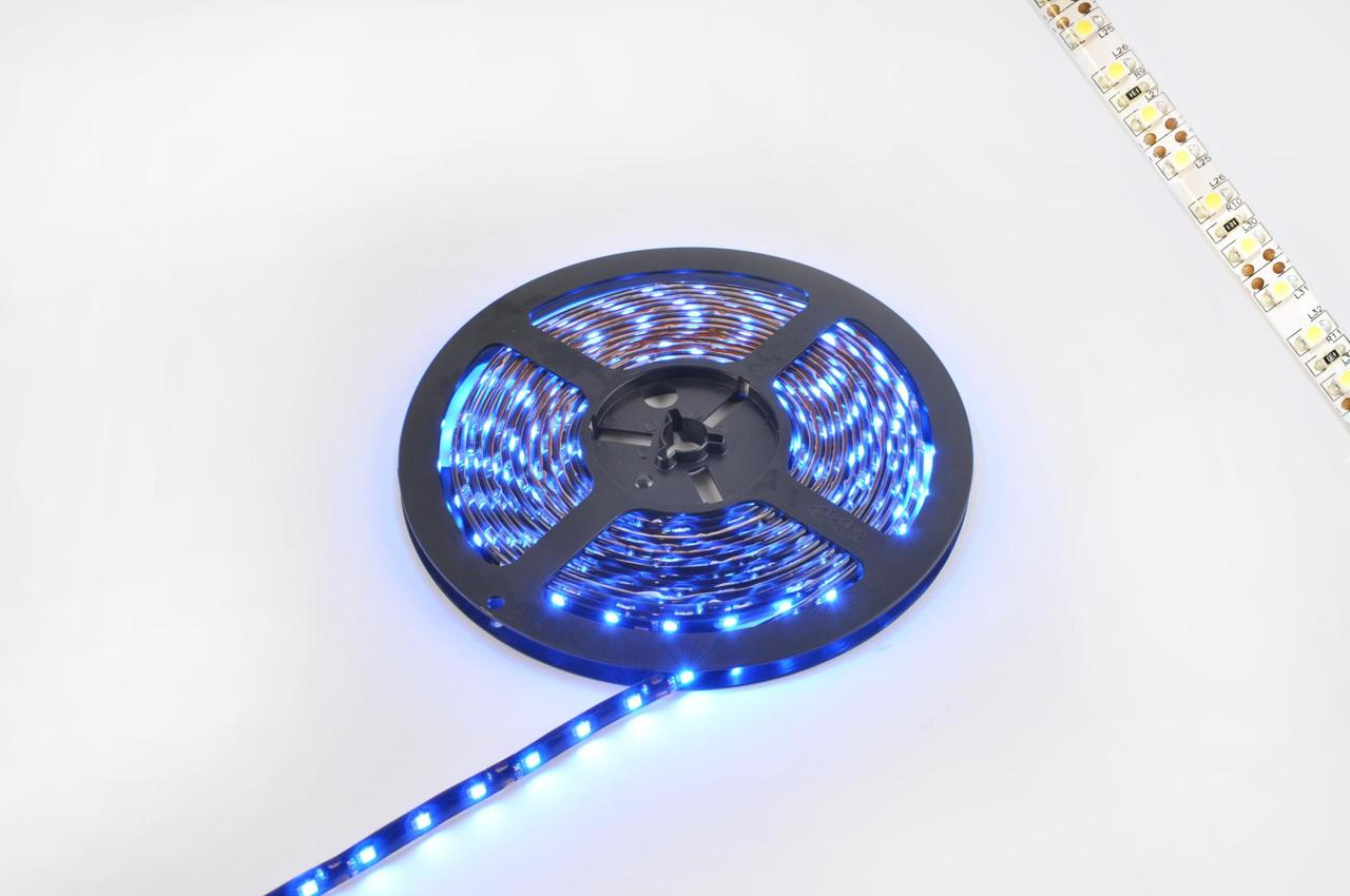 Лента светодиодная, светодіодная лента, led лента, лед лента SMD 3528 (синяя, влагостойкая, 60 крист/1м, бухта