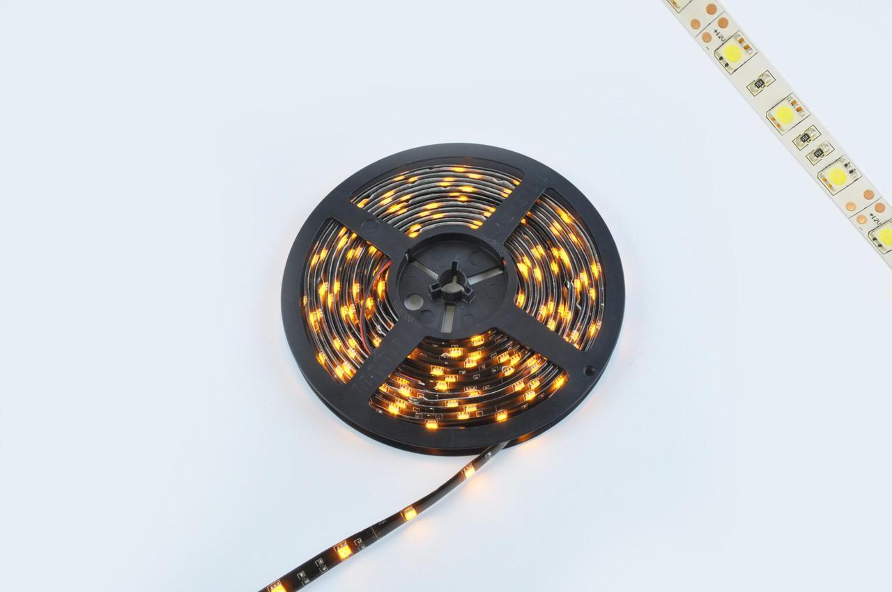 Лента светодиодная, светодіодная лента, led лента, лед лента SMD 5050 (желтая, влагостойкая, 30 крист/1м,
