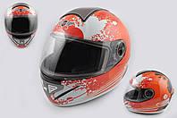 Мотошлем, Мотоциклетный шлем Интеграл (full-face) (mod:550) (premium class) (Размер:M, бело-красный) Ш108 KOJI