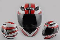 Мотошлем, Мотоциклетный шлем Интеграл (full-face) (mod:CFP05) (Размер:XL, белый) VR-1