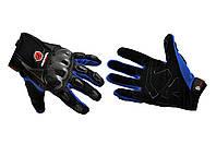 Мотоперчатки, Мотоциклетные перчатки, Перчатки для мотоцикла, мото рукавиці SCOYCO (mod:HD-12, Размер:M, синие, текстиль, карбон)