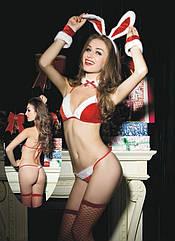 Комплект рождественского кролика JSY S M Красно-белый brtJSY-8752, КОД: 1464213