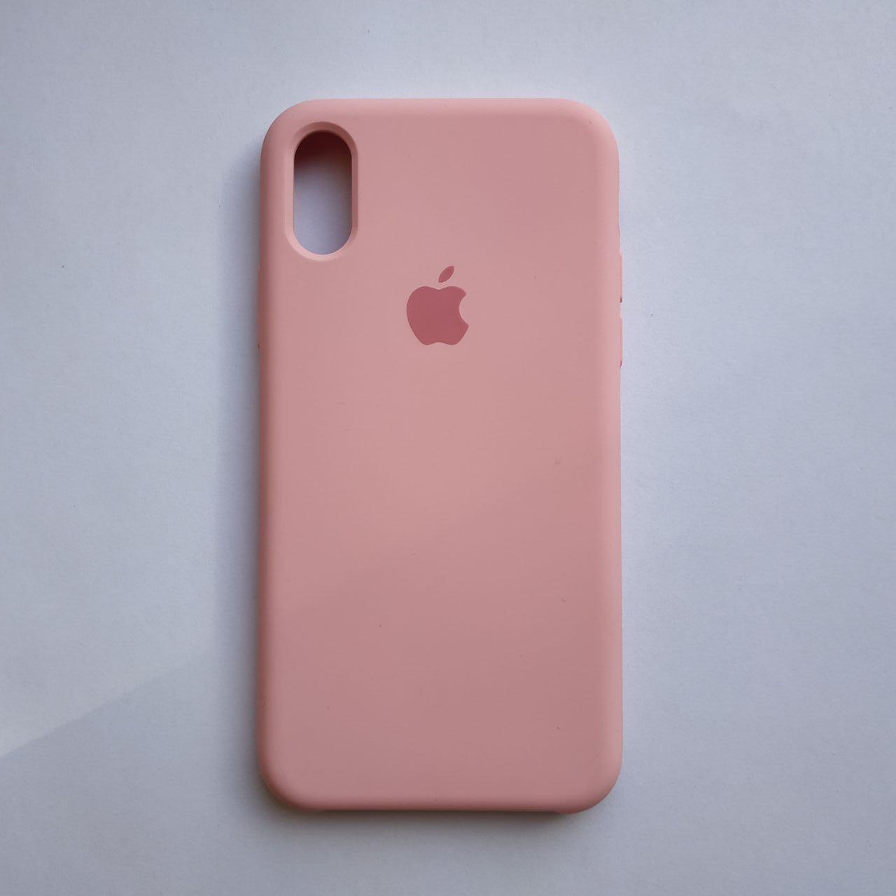 Чехол Silicone Case для Apple iPhone X, XS Rose Pink