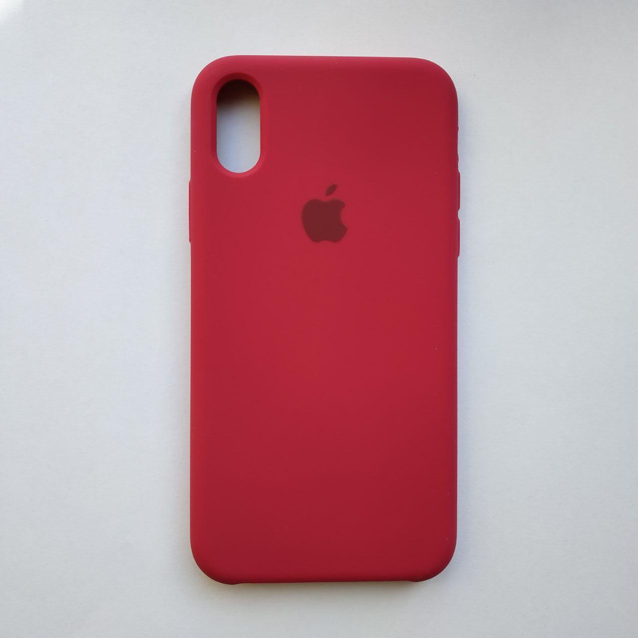 Чехол Silicone Case для Apple iPhone X, XS Rose Red