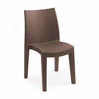 Пластиковое кресло Lady коричневое, фото 1